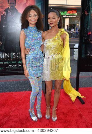LOS ANGELES - AUG 17: Thandie Newton, Thandiwe Newton and Nico Parker arrives for the 'Reminiscence' Los Angeles Premieree on August 17, 2021 in Hollywood, CA