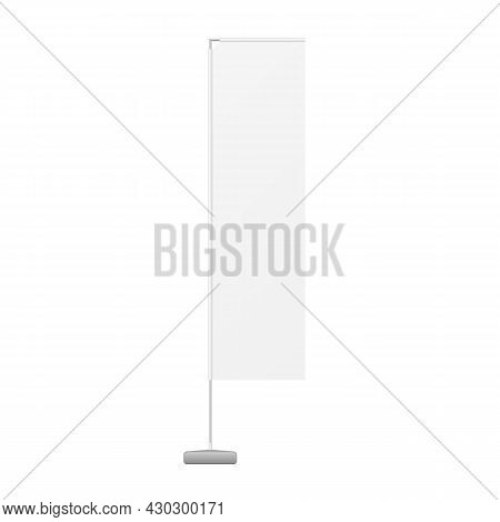 White Outdoor Feather Blade Straight Feather Flag, Stander Advertising Banner Shield. Illustration I