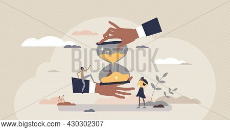 Time Planning Job And Effective Work Flow Management Tiny Person Concept. Task Organization And Opti