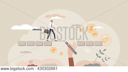 Supporting Future Career And Business Goal Problems Support Tiny Person Concept. Help With Financial