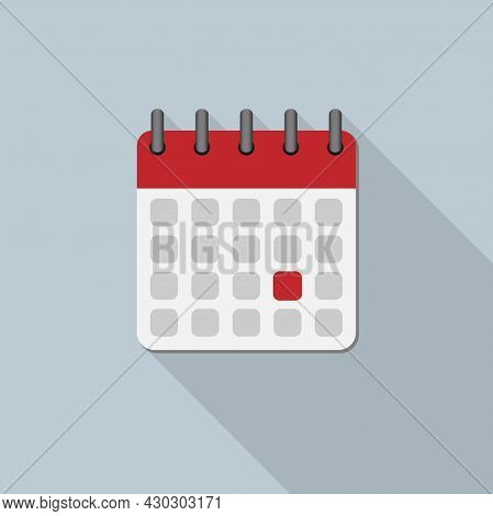 Calendar Icon With Drop Shadow, Appointment Or Deadline Vector Illustration