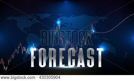 Abstract Futuristic Technology Background Of Forecasting Stock Market