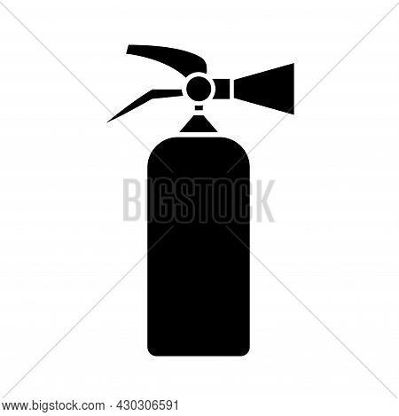 Fire Extinguisher Black Icon ,vector Illustration, Isolate On White Background Label. Eps10