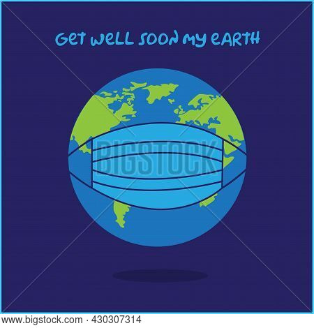 Vector World Is Being Hit By A Coronavirus Pandemic, The Illustration Can Be Used For Poster, Web, N