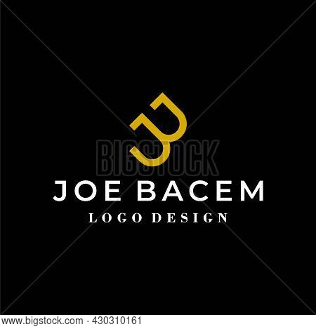A Modern And Minimalistic Logo About The Letter Jb. Eps 10, Vector.