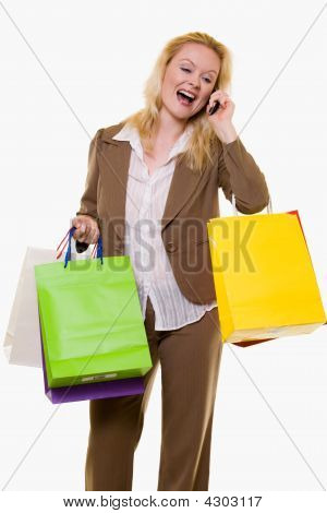 Woman Getting Great Sale Price
