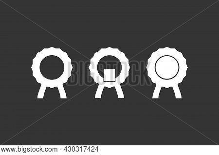 White Badge Vector Illustration. Greetings Badge Design. Rest In Peace Badge.