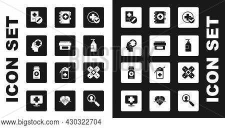 Set Cross Hospital Medical, Ointment Cream Tube Medicine, Male Head With, Medical Prescription, Hand