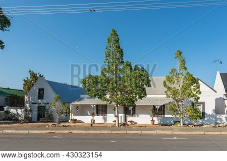 Prince Albert, South Africa - April 20, 2021: A Street Scene, With Guest Houses, In Prince Albert In
