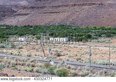 Ruins Next To The Railway Line At Nelspoort In The Western Cape Karoo
