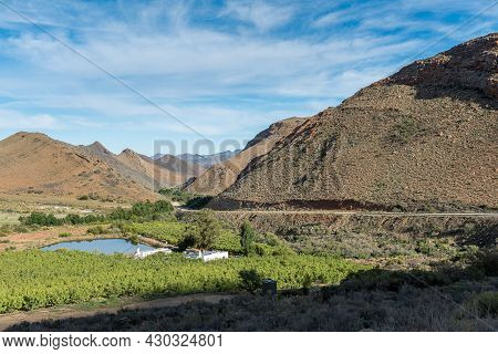 The Koueveld Pass Between Seweweekspoort In The Swartberg Mountains And Laingsburg. Farm Buildings A