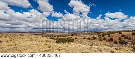 A Panorama Looking Over The Desert Of Northern Arizona With The Vermillion Cliffs In The Distance On