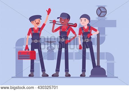 Professional Plumbing Service Team, Male Technicians, Fixing Blocks And Leakages. Experienced, Fully