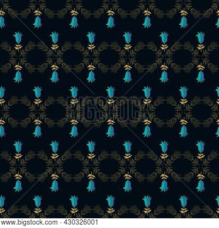 This Folk Style Pattern Is Inspired By The Swedish National Colours And Created Flowers. It Is  Part