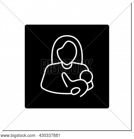 Nursing Room Glyph Icon. Breastfeeding, Lactation Room.pointer. Private Space For Mother And Baby.ai