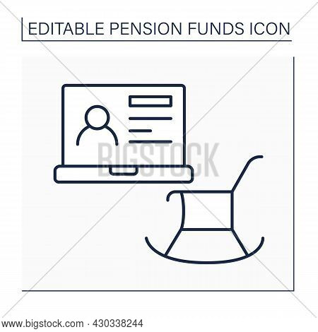 Account Line Icon. Individual Retirement Account. Tax Benefits For Retirement Savings. Pension Fund