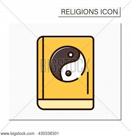 Confucianism Color Icon. Sacred Texts. Book Of Rites. Social Norms Of Society, Rites And Court Cerem