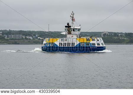 Halifax, Canada - 10 August 2021: Halifax Transit Ferry Going From Dartmouth To Halifax