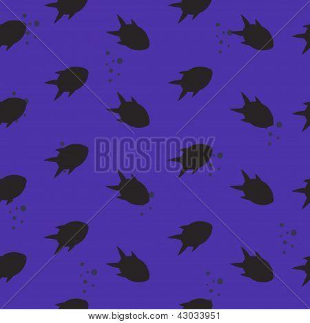 seamless pattern, fish silhouettes