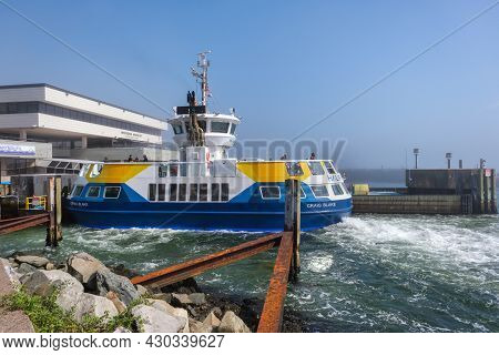 Dartmouth,canada - 10 August 2021: Halifax Transit Ferry At The Ferry Terminal