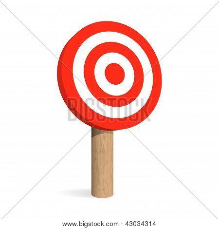 Target Board. Vector Illustration
