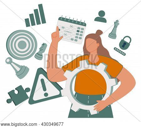 Skills Set As Ability And Competence To Work Performance Tiny Person Concept. Personality Intelligen