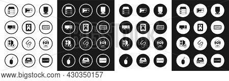 Set Optical Disc Drive, Hard Disk Hdd, Computer Monitor, Server, Data, Web Hosting, Keyboard, Video