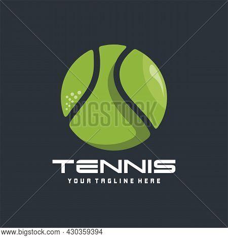 Modern Vector Tennis Ball Tournament Logo, Tennis Logo Design Vector For Your Team Or Tournament.