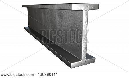 I-beam Metal Profile, Isolated Cgi Industrial 3d Illustration