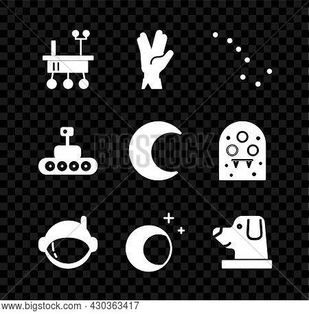 Set Mars Rover, Vulcan Salute, Great Bear Constellation, Astronaut Helmet, Moon And Stars, Dog In As