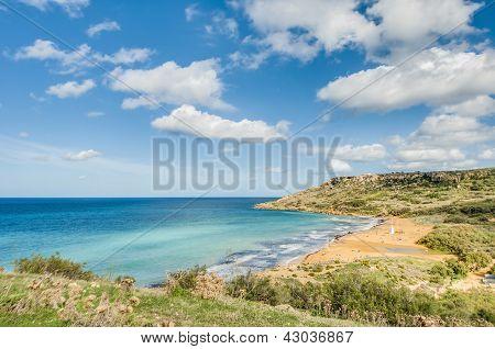 Ramla Bay, On The Northern Side Of Gozo, Malta