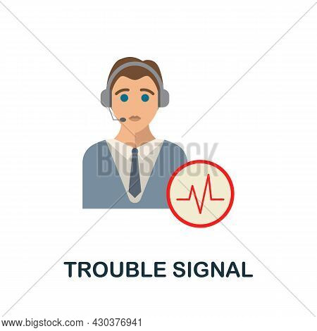 Trouble Signal Flat Icon. Colored Sign From Home Security Collection. Creative Trouble Signal Icon I