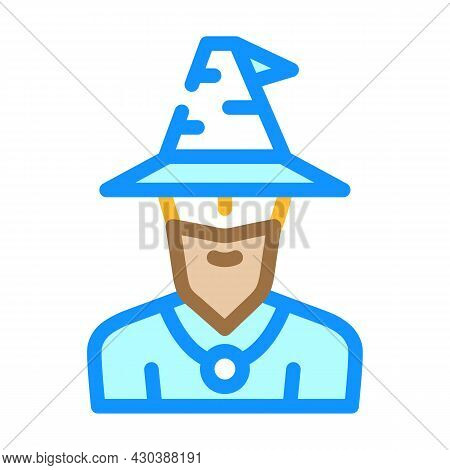 Magician Fairy Tale Color Icon Vector. Magician Fairy Tale Sign. Isolated Symbol Illustration