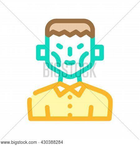 Frankenstein Fantasy Character Color Icon Vector. Frankenstein Fantasy Character Sign. Isolated Symb