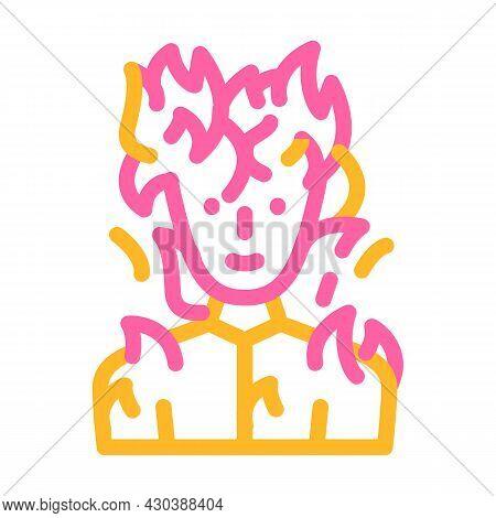 Burning Man Fantasy Character Color Icon Vector. Burning Man Fantasy Character Sign. Isolated Symbol