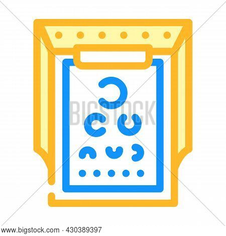 Snellen Table Ophthalmology Color Icon Vector. Snellen Table Ophthalmology Sign. Isolated Symbol Ill