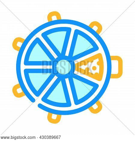 Interactive Electric Pet Toy Color Icon Vector. Interactive Electric Pet Toy Sign. Isolated Symbol I