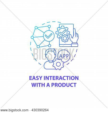 Easy Interaction With Product Concept Icon. Product Usage Abstract Idea Thin Line Illustration. Usab
