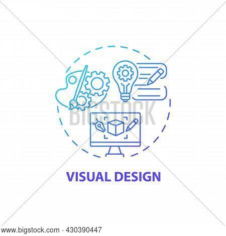 Visual Design Concept Icon. Ux Design Abstract Idea Thin Line Illustration. Well-designed Site. Good