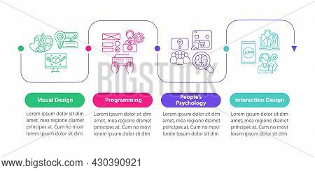 Ux Design Vector Infographic Template. People Psychology Presentation Outline Design Elements. Data