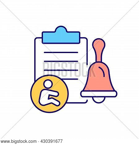 Written Notification Rgb Color Icon. Inform Employer Of Pregnancy In Written Form. Pregnancy Certifi