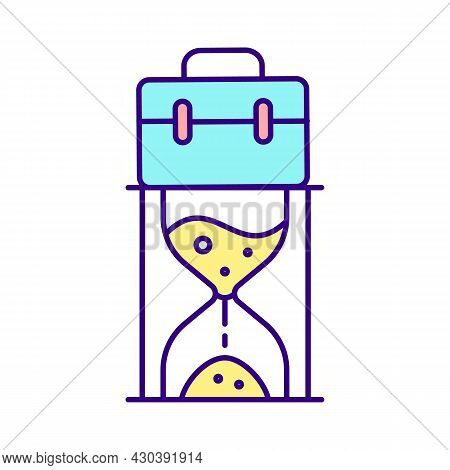 Working Hours Rgb Color Icon. Rights And Benefits For Casual And Self Employed Workers. Maternity, P