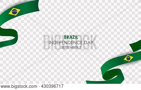 Brazil Independence Day 7 September Realistic Vector With Balloons And Brazil Flag. Vector