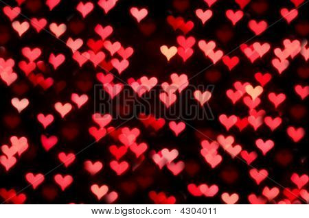 Bokeh Red Hearts