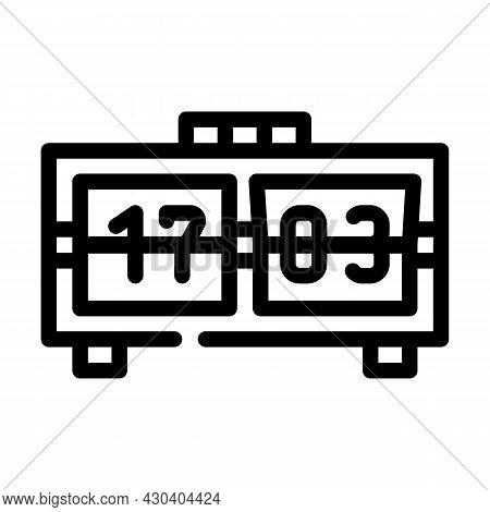 Mechanical Clock Line Icon Vector. Mechanical Clock Sign. Isolated Contour Symbol Black Illustration