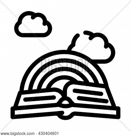 Story Book Fairy Tale Line Icon Vector. Story Book Fairy Tale Sign. Isolated Contour Symbol Black Il