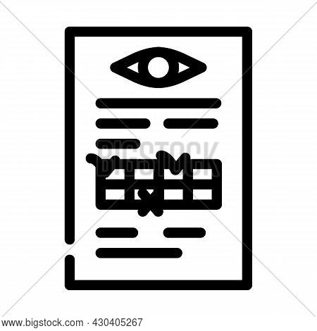 Anamnesis Ophthalmology Line Icon Vector. Anamnesis Ophthalmology Sign. Isolated Contour Symbol Blac