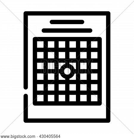 Amsler Table Ophthalmology Line Icon Vector. Amsler Table Ophthalmology Sign. Isolated Contour Symbo