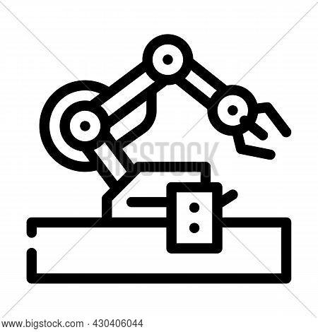Robotic Arm Robot Line Icon Vector. Robotic Arm Robot Sign. Isolated Contour Symbol Black Illustrati