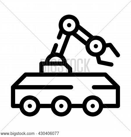 Mine Neutralization Robot Line Icon Vector. Mine Neutralization Robot Sign. Isolated Contour Symbol